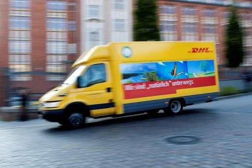Stock Photo: 1848-167300 DHL delivery van