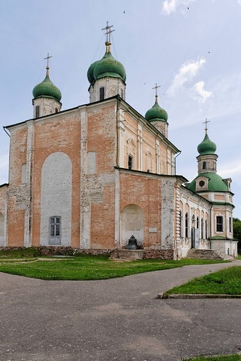 Stock Photo: 1848-168667 Uspensky Cathedral, Assumption or Dormition Cathedral, in Goritsky Monastery, Pereslavl_Zalessky, Russia