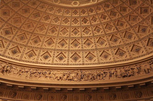 Stock Photo: 1848-1692 Decorative cupola, detail, in the reception hall of Stowe School, private school since 1923, architecture from 1770, Classicism, Stowe, Buckingham, Buckinghamshire, England, United Kingdom, Europe