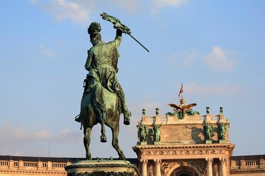 Erzherzog_Karl_monument, Hofburg, Vienna, Austria, Europe : Stock Photo