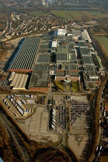 Aerial photo, OPEL Werk 1 Laer, Opel car factory plant 1, Bochum, Ruhr district, North Rhine_Westphalia, Germany, Europe : Stock Photo