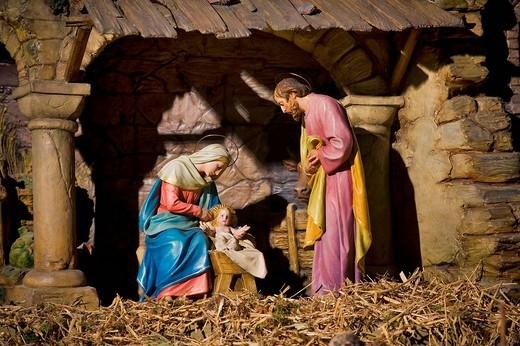 Nativity scene : Stock Photo