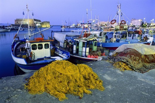 Harbour, Heraklion, Crete, Greece : Stock Photo
