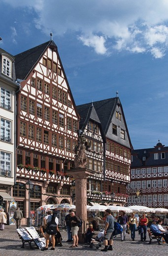 Framework in the old town, Frankfurt am Main, Hesse, Germany : Stock Photo