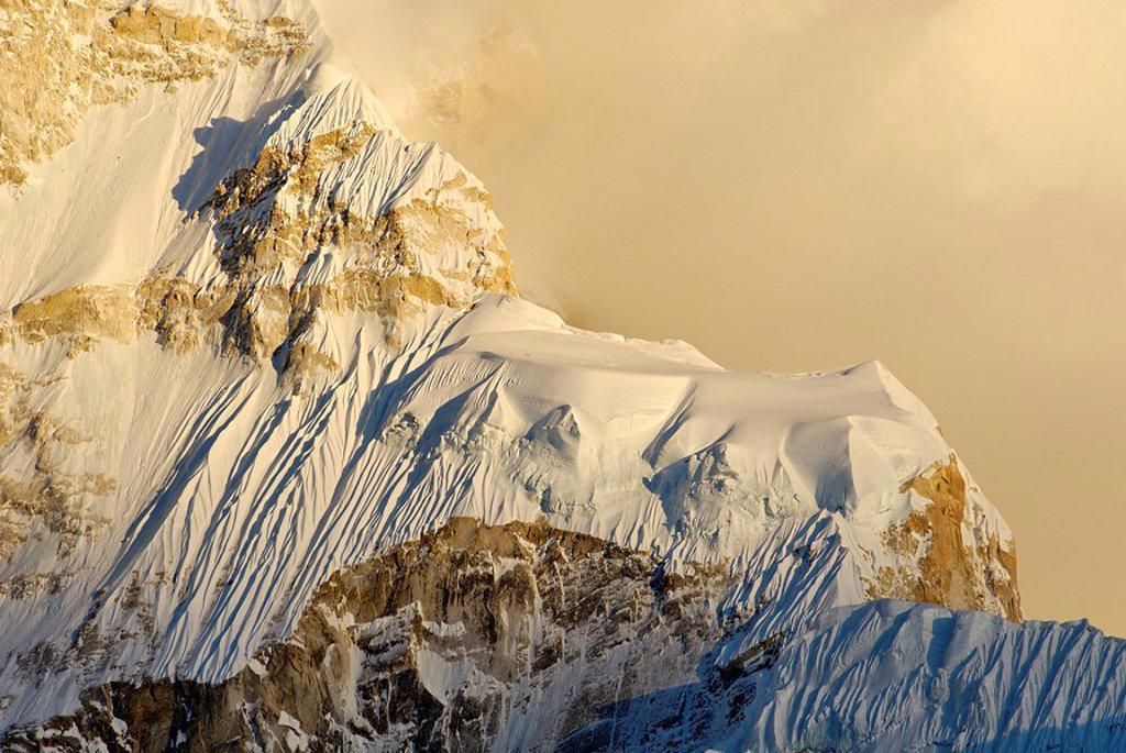Stock Photo: 1848-171364 Nuptse 7861 westface, Khumbu Himal, Sagarmatha National Park, Nepal