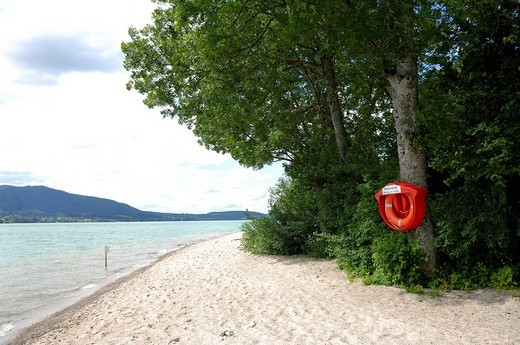 Lifesaver, Lake Tegernsee, Bavaria, Germany, Europe : Stock Photo