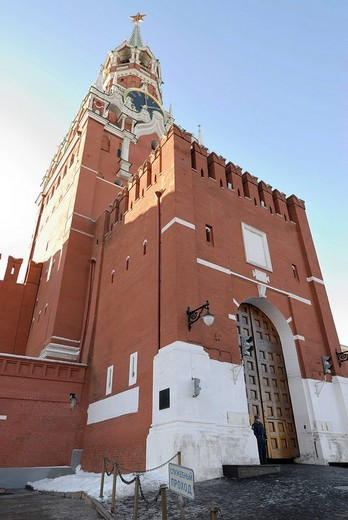 Saviour Spasskaya tower, Kremlin, Moscow, Russia : Stock Photo