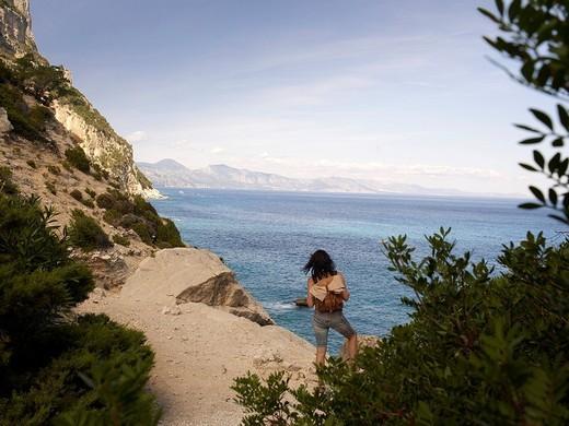 Stock Photo: 1848-1723 Beautiful bay of Cala Goloritze at the Gulf of Orosei, east coast of Sardinia, Italy, Europe