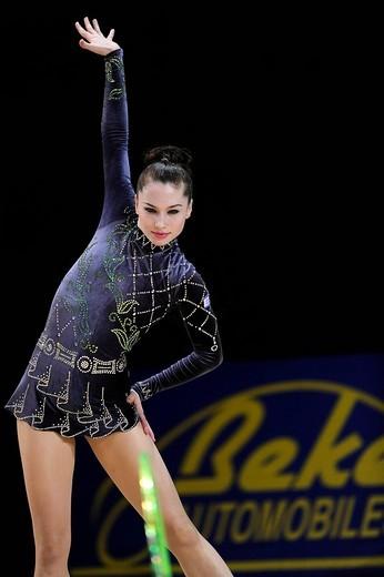 Irina RISENZON, Iryna RIZENSON RISENSON, Israel, Grand Prix of Rhythmic Gymnastics, Paris, France, Europe : Stock Photo