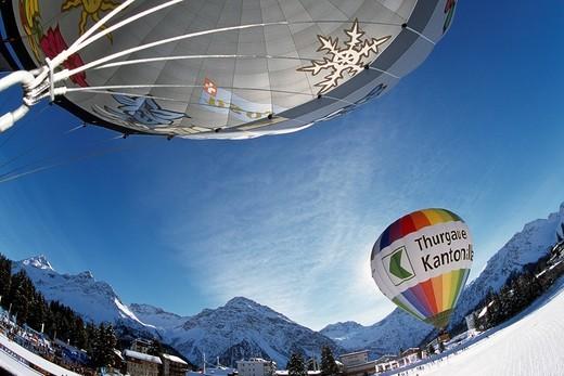 Arosa balloon festival, Grisons, Switzerland : Stock Photo