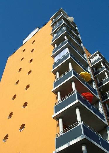 Building, Loessnig, Leipzig, Saxony, Germany : Stock Photo