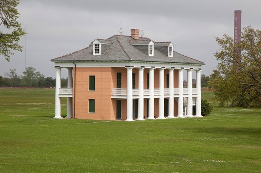 The Malus_Beauregard House on the Chalmette Battlefield, site of Gen. Andrew Jackson´s victory over British troops in the Battle of New Orleans in 1815, Chalmette, Louisiana, USA : Stock Photo