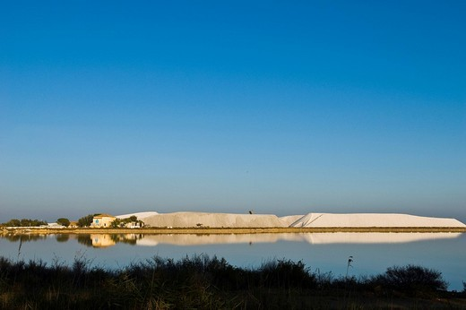 Saline, Saltern, Aigues Mortes, Languedoc_Rousillion, France : Stock Photo