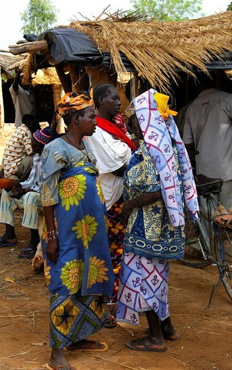 Stock Photo: 1848-173396 Women on a local market, Burkina Faso