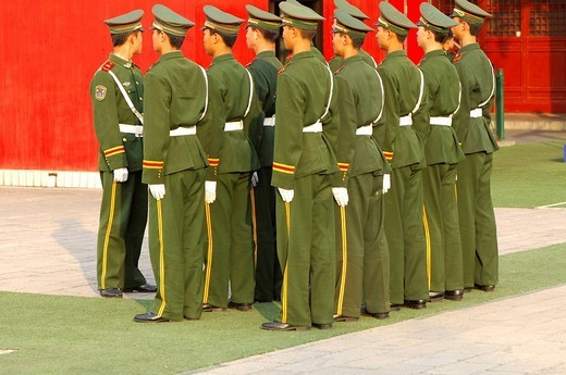 Platoon of the People´s Liberation Army China : Stock Photo