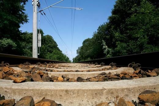 Stock Photo: 1848-175034 Rail tracks