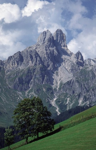 Peak of Grosse Bischofsmuetze in Filzmoos, Salzburg, Austria : Stock Photo