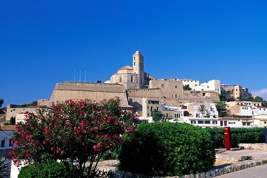Dalt Vila, historic centre, Ibiza Town, Ibiza, Balearic Islands, Spain : Stock Photo