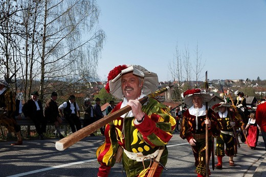 Stock Photo: 1848-176403 Georgiritt, George´s Ride, Easter Monday procession, Traunstein, Chiemgau, Upper Bavaria, Bavaria, Germany, Europe
