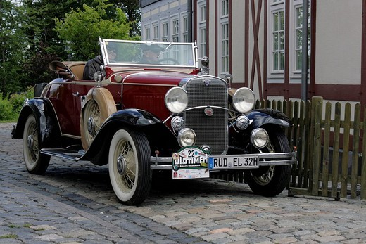 Stock Photo: 1848-176955 Vintage car Chevrolet Convertible Roadster of 1931, vintage car race Wiesbaden 2007, Hessenpark, Neu_Anspach, Taunus, Hesse, Germany