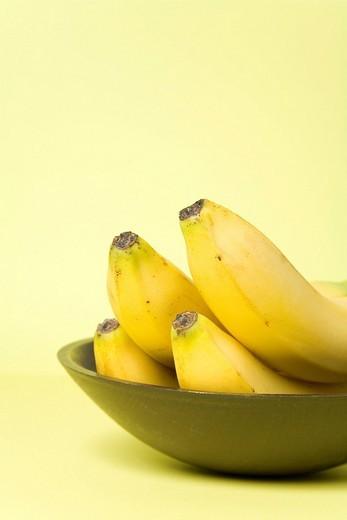 Bananas in a bowl : Stock Photo