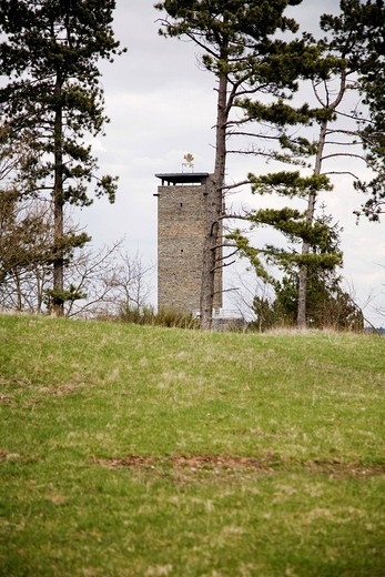 Former NS_Ordensburg Vogelsang National Socialist estate, keep, Eifel, North Rhine_Westphalia, Germany, Europe : Stock Photo