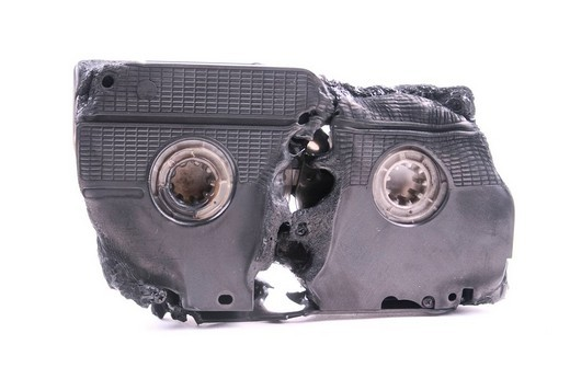 Burning Video cassette : Stock Photo