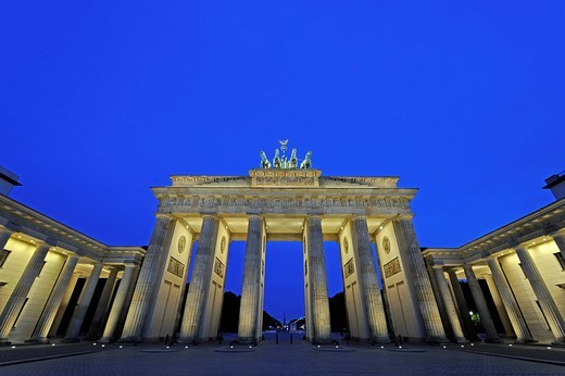 Brandenburg Gate in Berlin in the early morning, Germany, Europe : Stock Photo