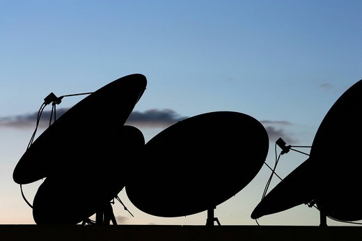 Stock Photo: 1848-178992 Satellite dishes on a roof