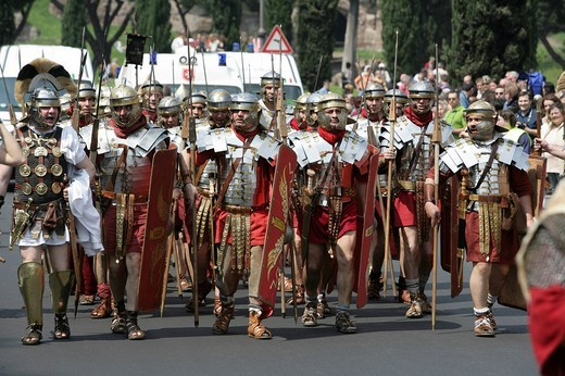 ITA, Italy, Rome : Anual historical foundation parade for the city of Rome on the 21.April 753 bC. : Stock Photo