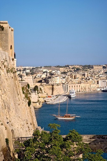 Stock Photo: 1848-179724 View from Valletta of the Three Cities, Malta, Europe