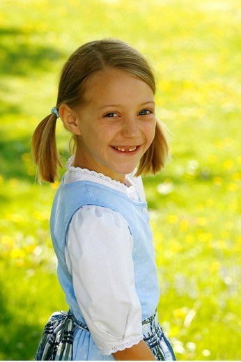 Young girl with missing tooth : Stock Photo