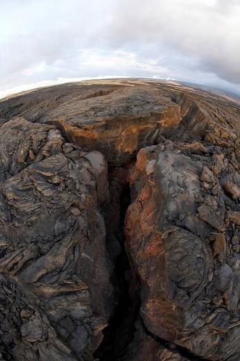 Lava desert near Waikoloa on Big Island, Hawaii, USA : Stock Photo