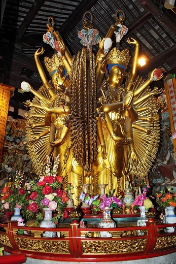 Stock Photo: 1848-181211 Figurine, Longhua temple, Shanghai, China