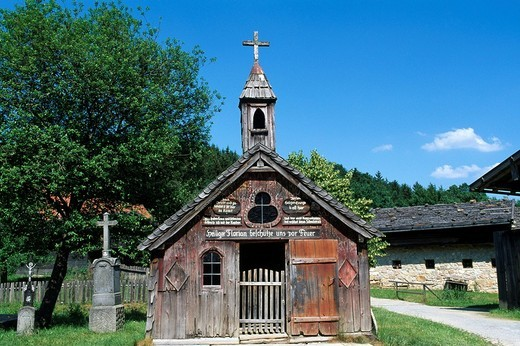 Open_air museum, Tittling, Bavarian Forest, Bavaria, Germany : Stock Photo