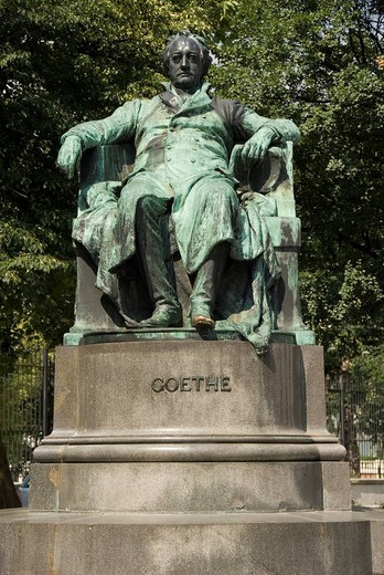 Goethe memorial, Vienna, Austria, Europe : Stock Photo