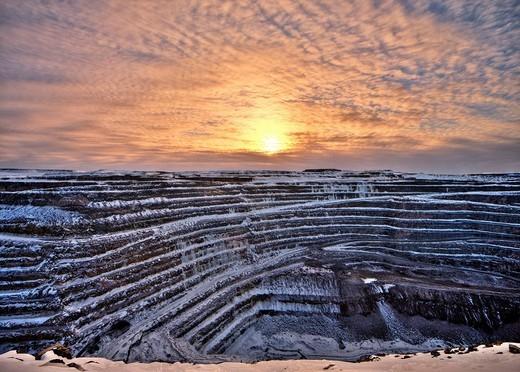 Ore mine in Gaellivare, Sweden, Scandinavia, Europe : Stock Photo