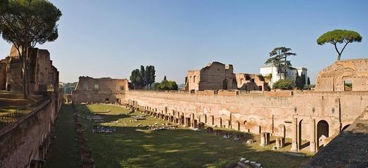 Stadium of Domitianus on Palatine Hill, Rome, Italy, Europe : Stock Photo