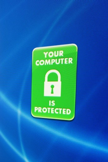 Stock Photo: 1848-183332 Screenshot, Computer Warning, Your Computer is protected