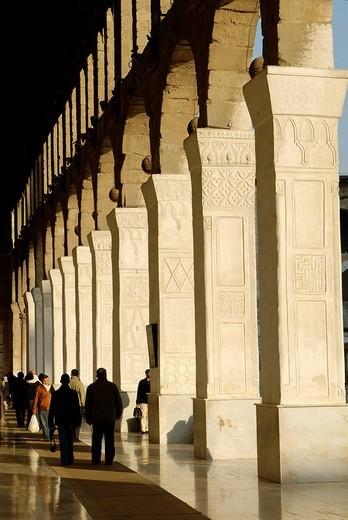 Stock Photo: 1848-183349 Umayyad Mosque at Damascus, Syria