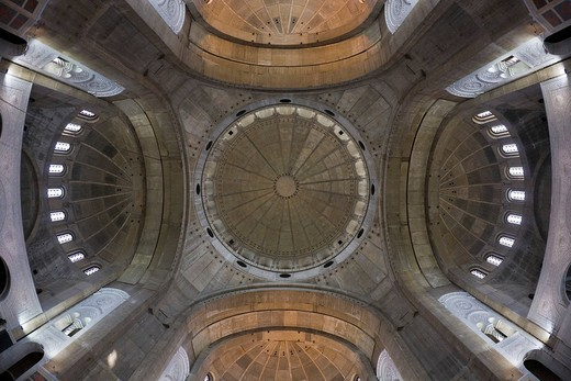 Inner view, cupolas of the Saint Sava Cathedral, Belgrade, Serbia : Stock Photo