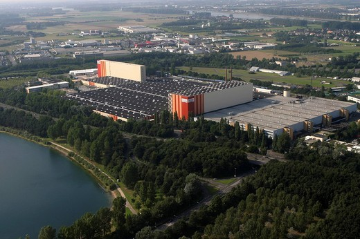 DEU, Germany, Cologne : Areal View of the Ford automotive plant. , : Stock Photo