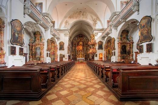 Altar of the Marienchurch in Steyr, Upper Austria, Austria : Stock Photo