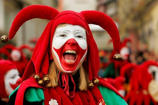 Swabian Fastnacht carnival, Lindau, Allgaeu, Bavaria, Germany : Stock Photo