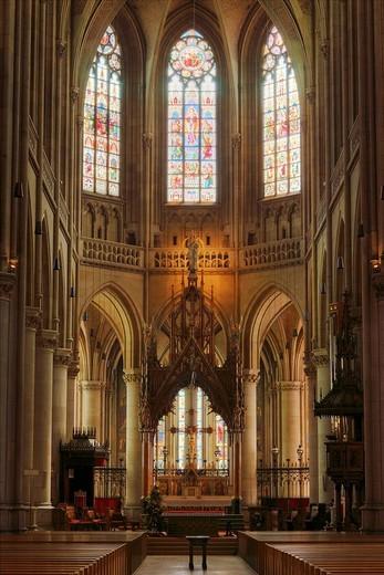 Main altar, Marian Dome, New Dome, Linz, Upper Austria, Austria, Europe : Stock Photo
