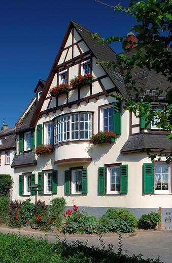 Stock Photo: 1848-187074 Rural house in Eltville, Germany, Hesse, Rheingau Region