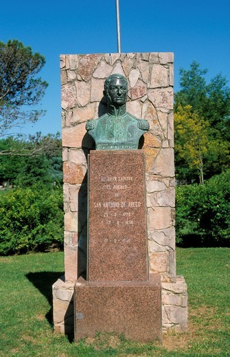 Memorial for the liberator of South America, General Don José de San Martín, San Antonio de Areco, Buenos Aires Province, Argentina, South America : Stock Photo