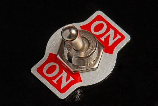 Stock Photo: 1848-188298 Switch is always on, symbolic image for always the same