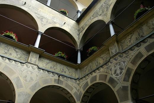 Town hall, inner courtyard, Ljubljana, Slovenia : Stock Photo