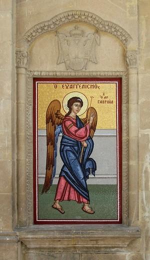 Mosaic at the Phaneromeni church, Nicosia, Cyprus : Stock Photo